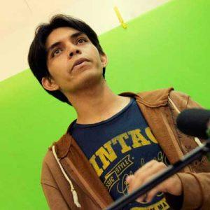Adrián Veroes Condez en grabación