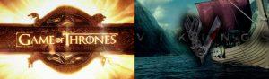 Game of Thrones (Juego de Tronos) y Vikings (Vikingos)