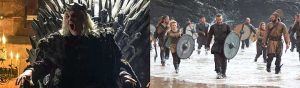 Estructura narrativa de Juego de Tronos y Vikingos