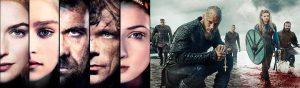 Esquema de personajes en Juego de Tronos y Vikingos